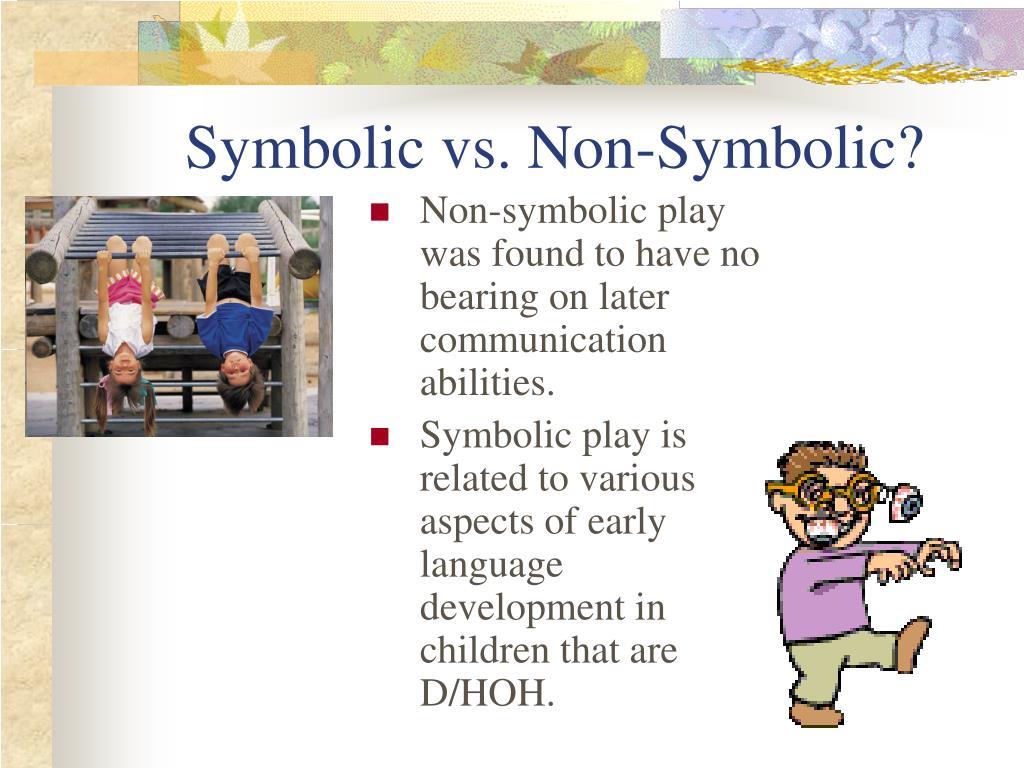 Symbolic vs. Non-Symbolic?