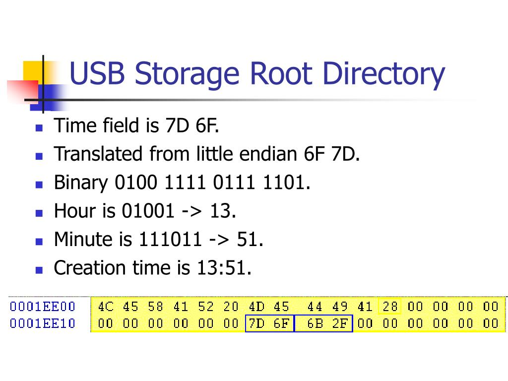 USB Storage Root Directory