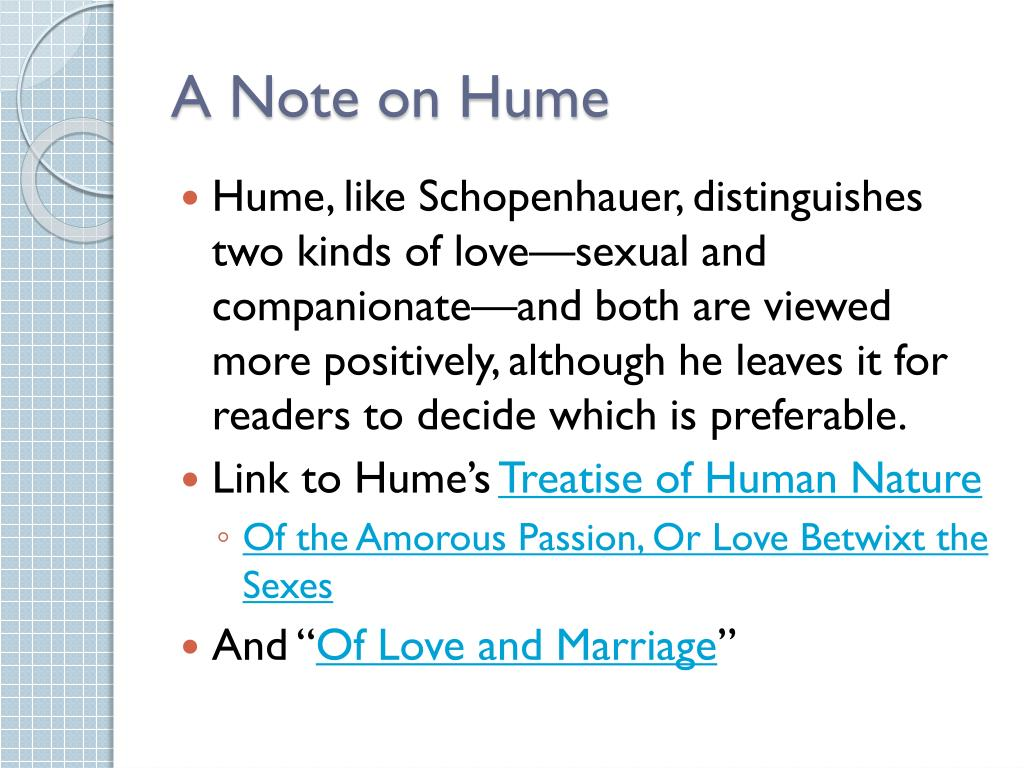 A Note on Hume