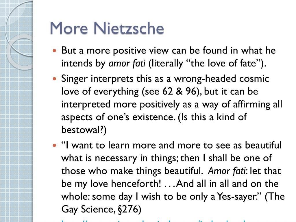 More Nietzsche