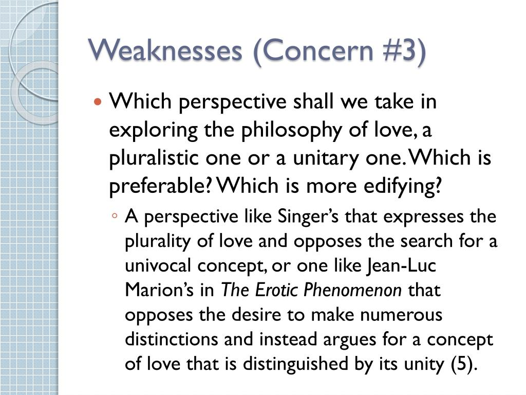 Weaknesses (Concern #3)
