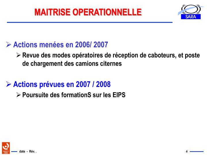 MAITRISE OPERATIONNELLE