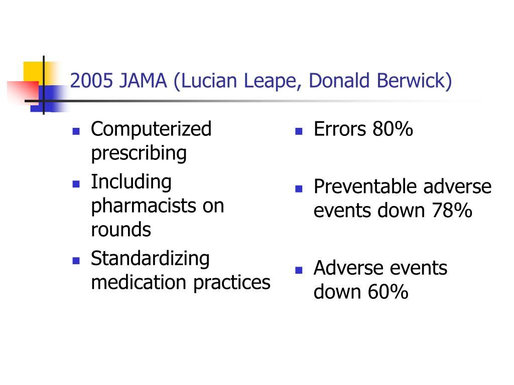Computerized prescribing