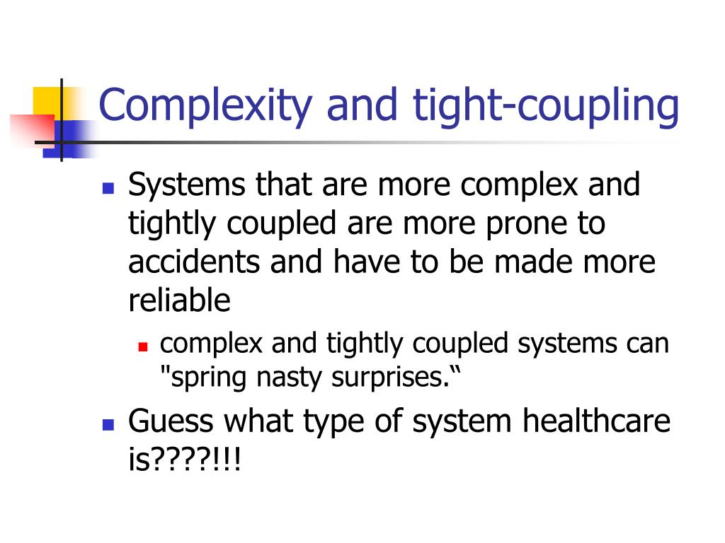 Complexity and tight-coupling