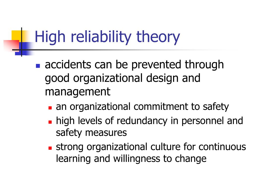 High reliability theory