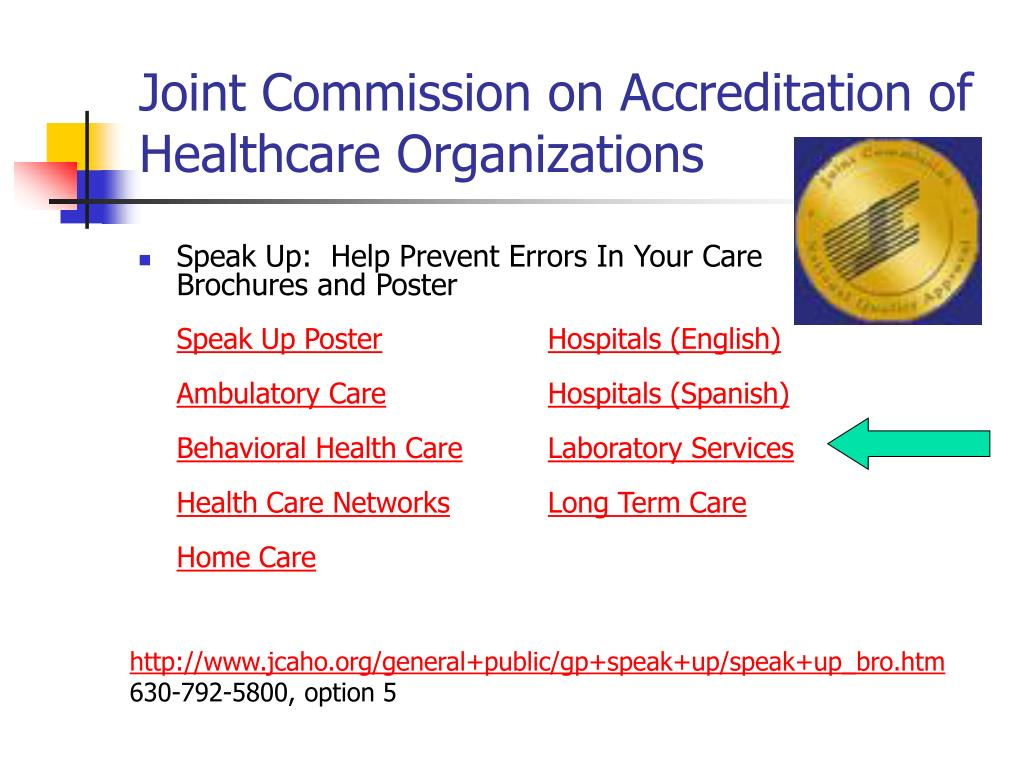 Joint Commission on Accreditation of Healthcare Organizations