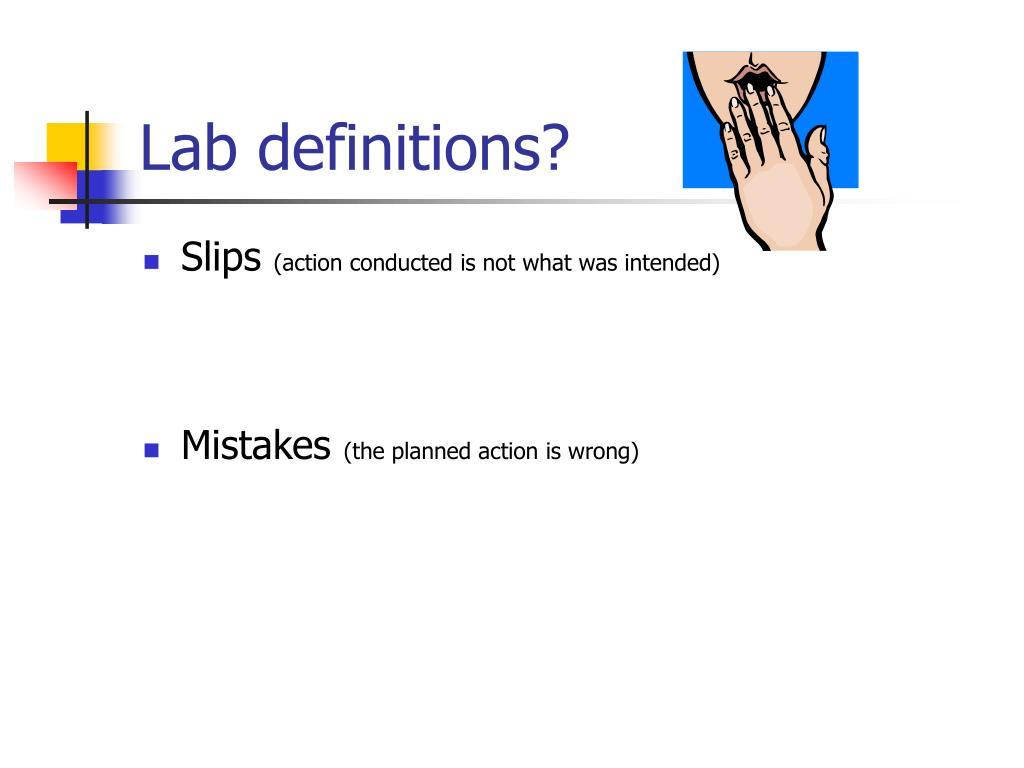 Lab definitions?