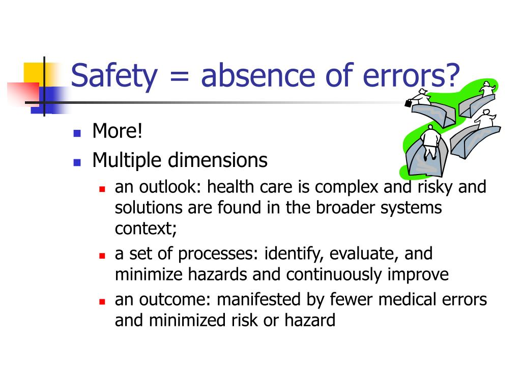 Safety = absence of errors?