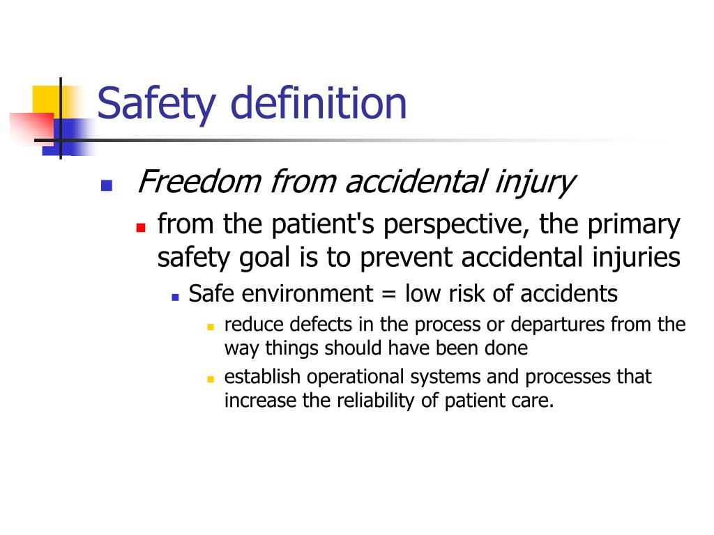 Safety definition