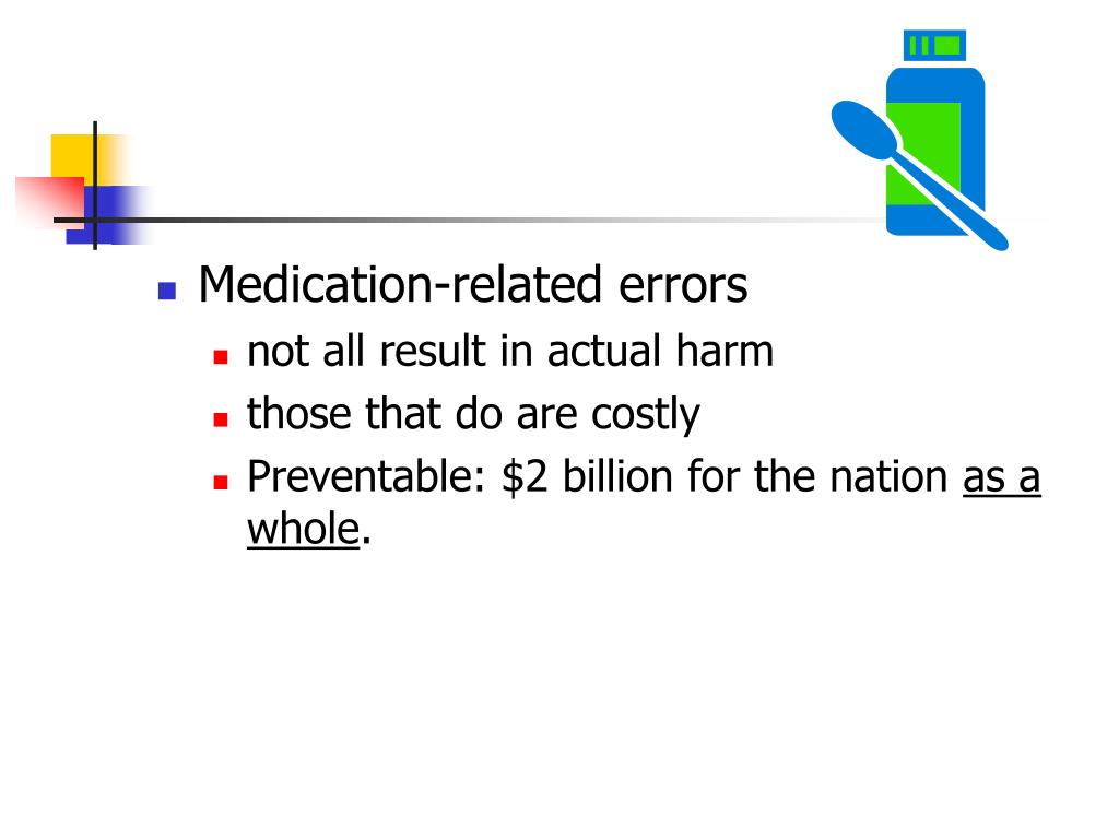 Medication-related errors