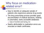 why focus on medication related error17
