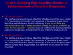 chart 6 avoiding high cognitive burden or embarrassment of incorrect responses