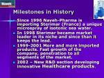 milestones in history