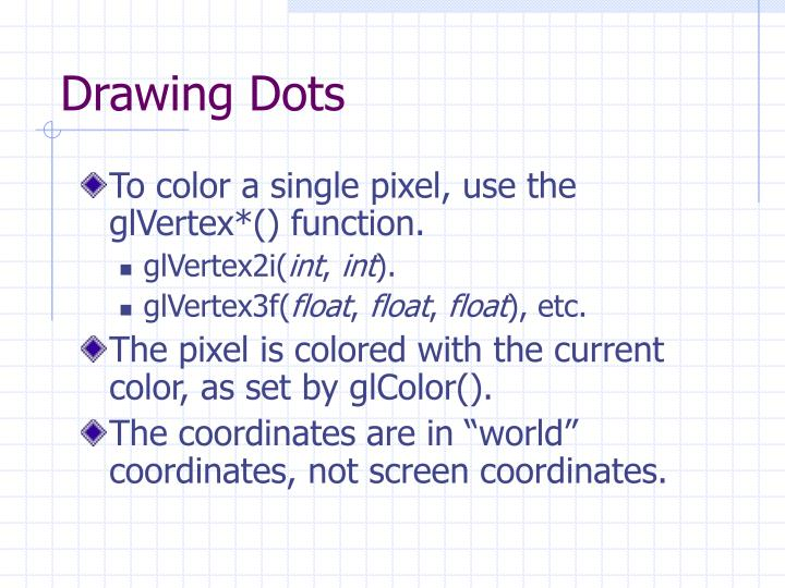 Drawing Dots
