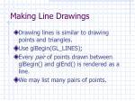 making line drawings
