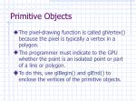primitive objects