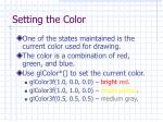 setting the color