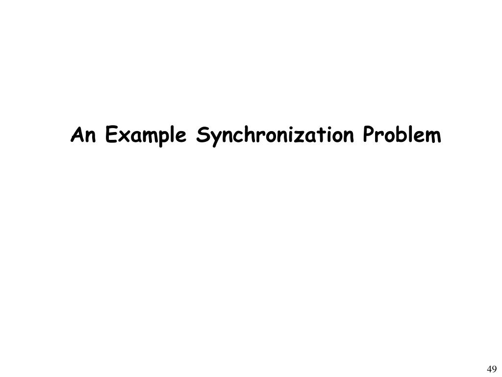 An Example Synchronization Problem