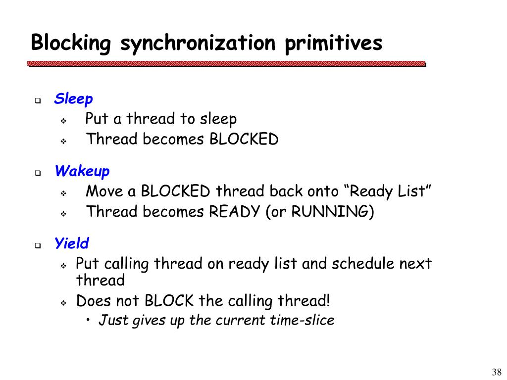 Blocking synchronization primitives