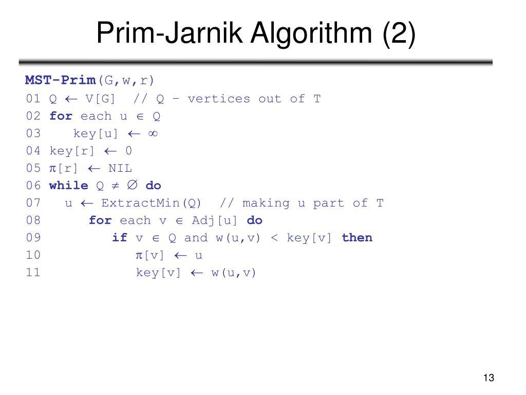 Prim-Jarnik Algorithm (2)
