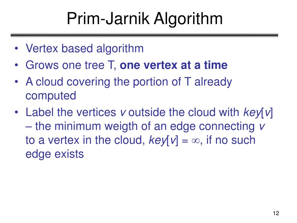 Prim-Jarnik Algorithm
