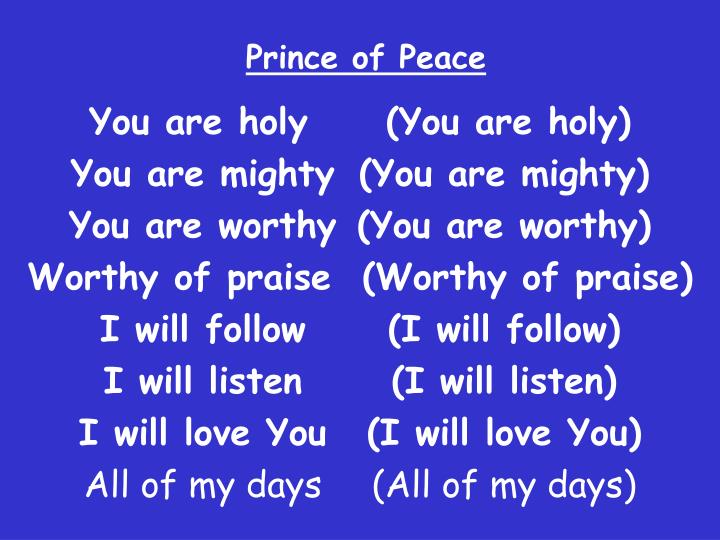 you are holy prince of peace pdf