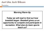 just like josh gibson thursday