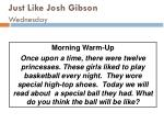 just like josh gibson wednesday