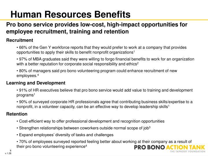 Human Resources Benefits