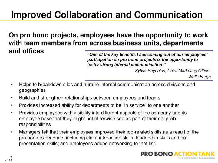 Improved Collaboration and Communication