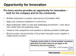 opportunity for innovation