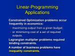 linear programming applications1