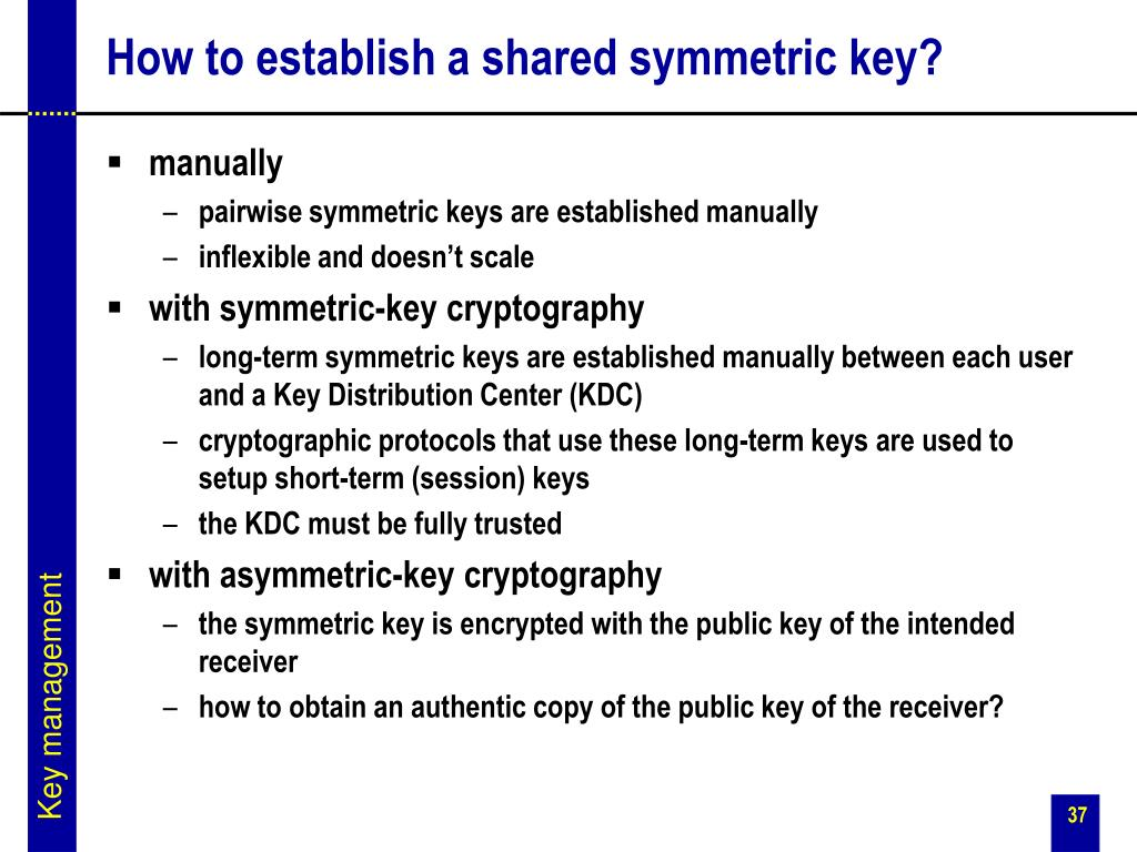 How to establish a shared symmetric key?