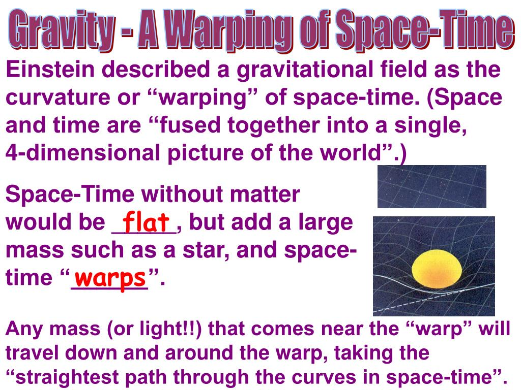 Gravity - A Warping of Space-Time