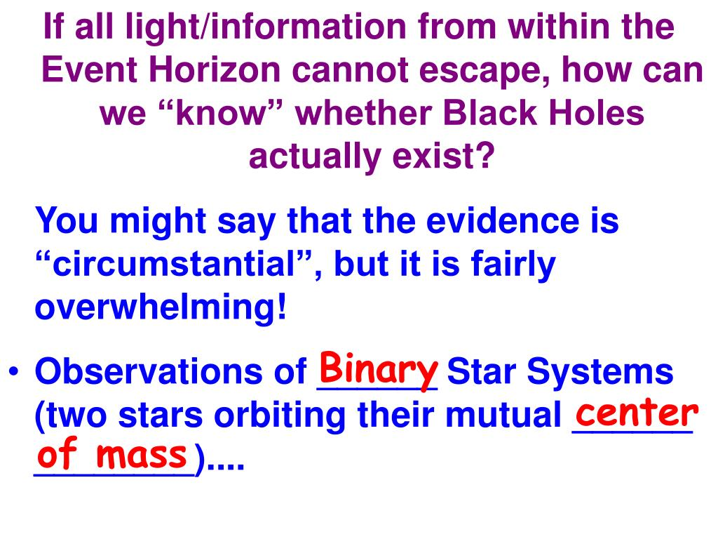 "If all light/information from within the Event Horizon cannot escape, how can we ""know"" whether Black Holes actually exist?"