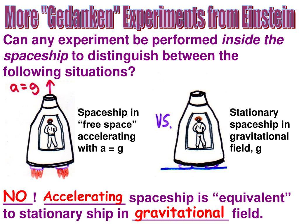 """More """"Gedanken"""" Experiments from Einstein"""