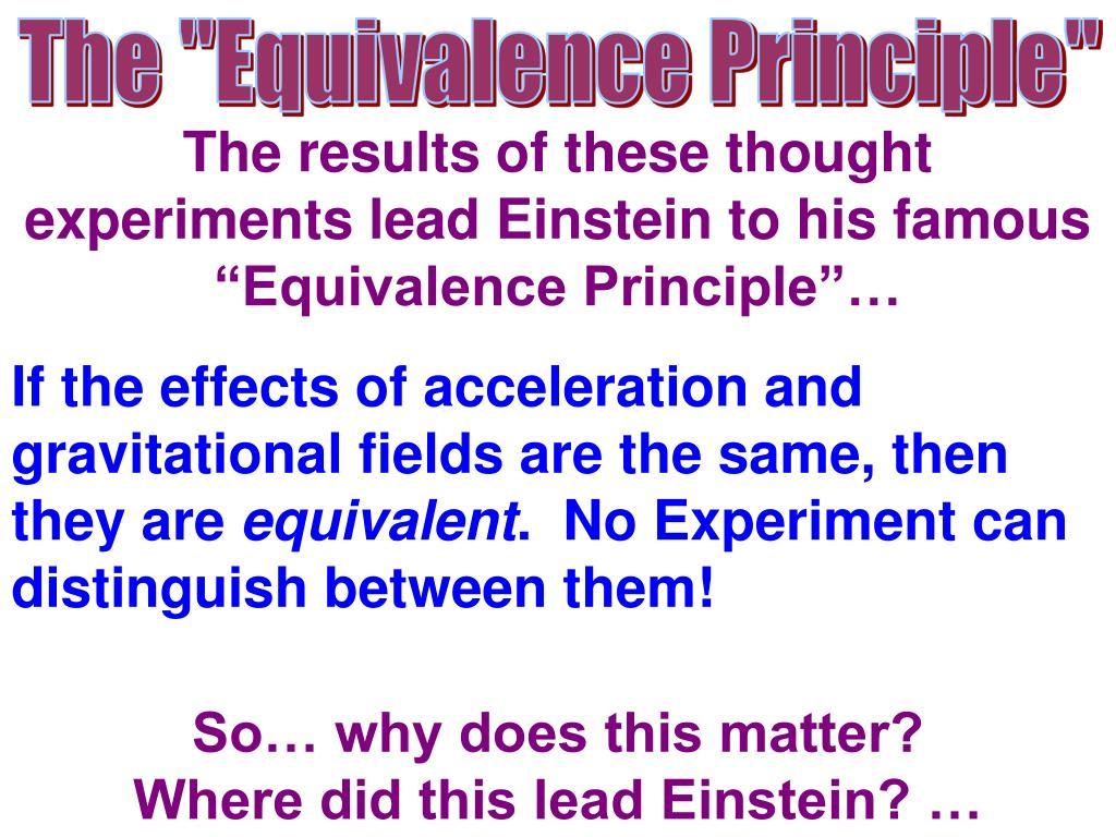 "The ""Equivalence Principle"""