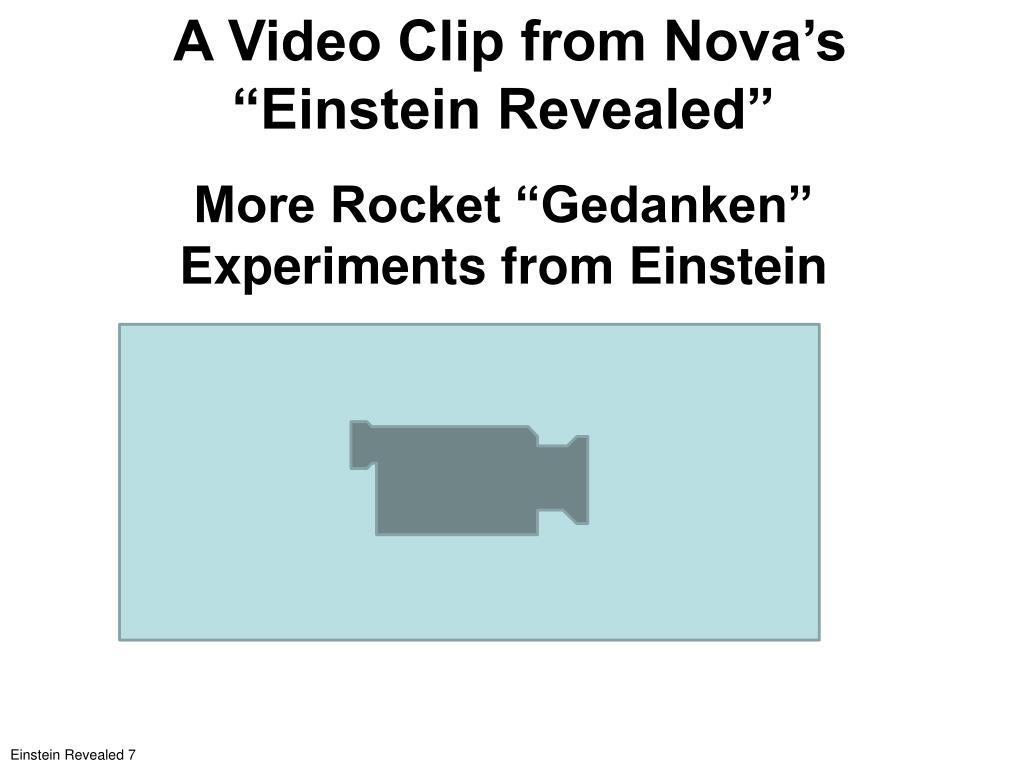 "A Video Clip from Nova's ""Einstein Revealed"""