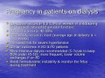 pregnancy in patients on dialysis