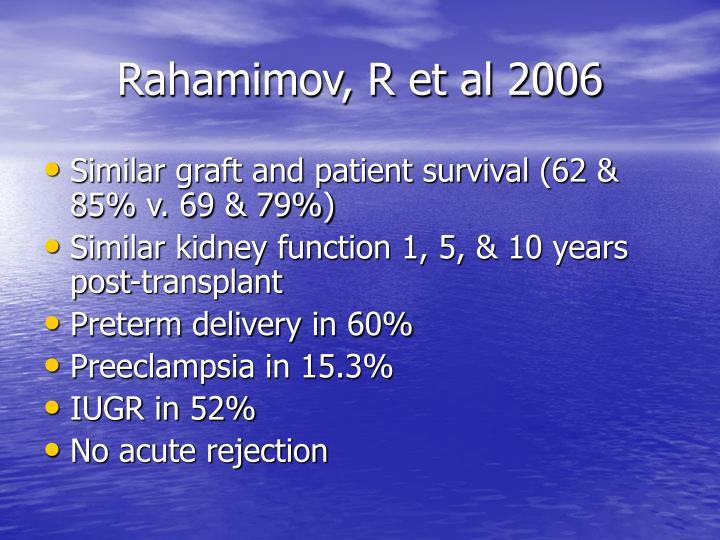 Rahamimov, R et al 2006