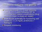 recommendations key points