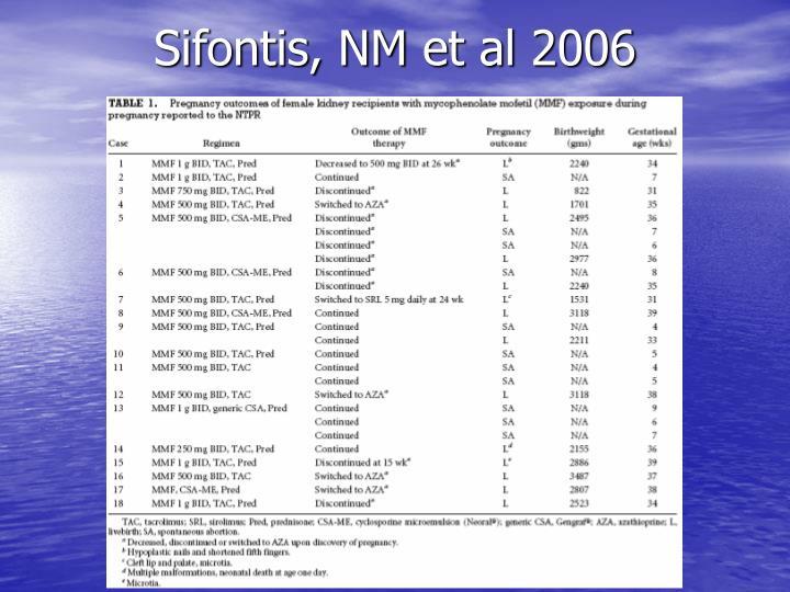 Sifontis, NM et al 2006