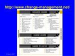 http www change management net