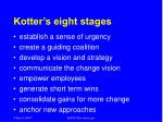 kotter s eight stages