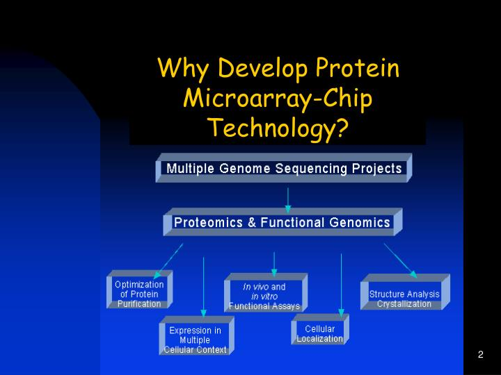 Why Develop Protein Microarray-Chip Technology?