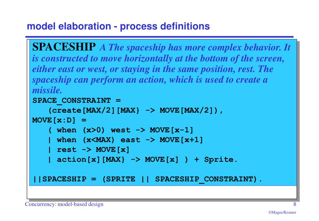 model elaboration - process definitions