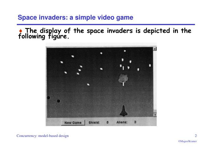 Space invaders a simple video game