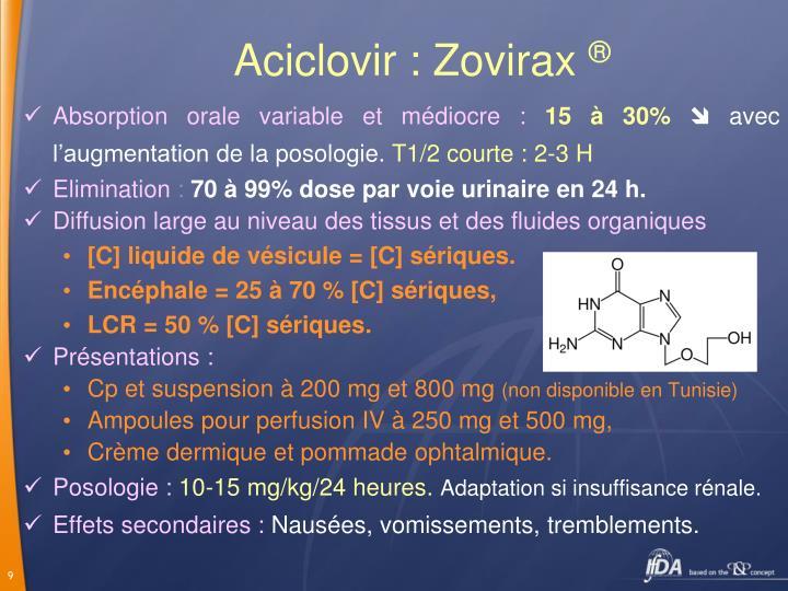 Aciclovir : Zovirax