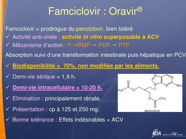 Famciclovir : Oravir