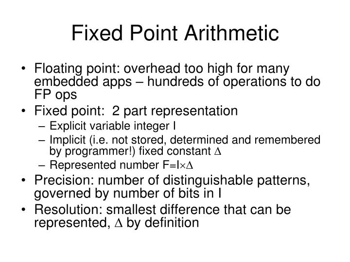 Fixed point arithmetic l.jpg